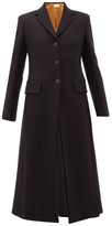 The Row Sua Single-breasted Wool-blend Twill Coat - Womens - Navy