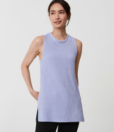 LOFT Petite Sleeveless Tunic Sweater
