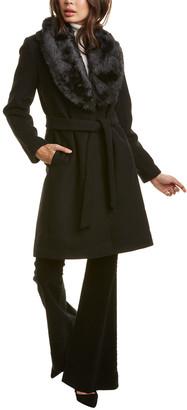 Nine West Medium Wool-Blend Coat