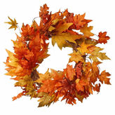 NATIONAL TREE CO National Tree Co 24 Inch Maples Wreath