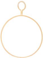 Afin Atelier Big Single Hoop Earring With Diamonds