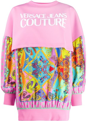 Versace Paisley Print Jumper Dress