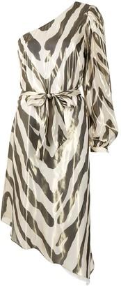 HANEY Malibu one-shoulder dress