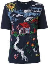 Love Moschino embroidered front T-shirt