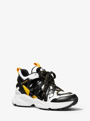 MICHAEL Michael Kors Hero Leather and Mesh Trainer
