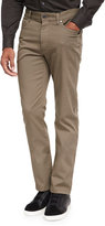 Ermenegildo Zegna Pique Five-Pocket Pants, Dark Green