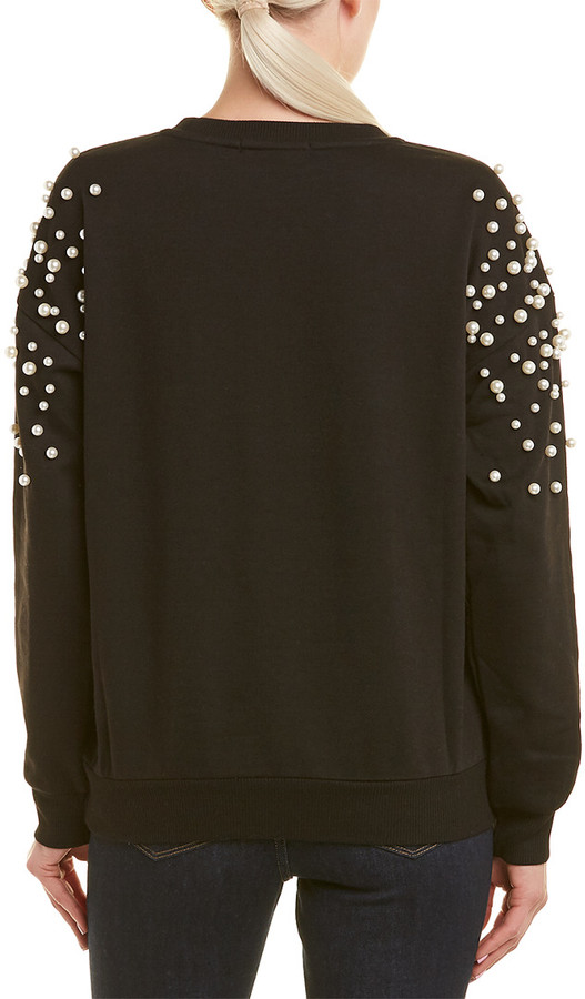 Thumbnail for your product : Romeo & Juliet Couture Pearl Bead Sweatshirt
