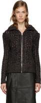 Isabel Marant Black Easley Zip-up Sweater