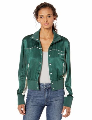 The Kooples Women's Women's Cropped Track Jacket with Zips and Metal Buttons