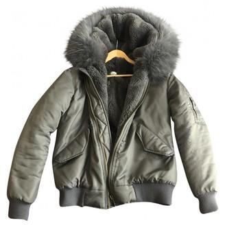 Ducie Grey Faux fur Jacket for Women