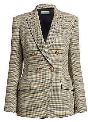 A.L.C. Women's Sedgwick Plaid Double Breasted Blazer - Size 0