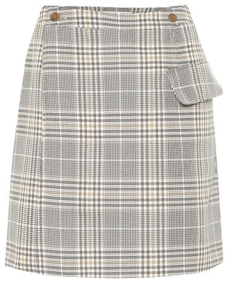 Acne Studios Checked cotton-blend skirt