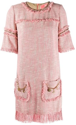 Elisabetta Franchi Fringe Detail Knitted Shift Dress