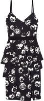 Ungaro Ruffled Floral-Print Crepe Dress