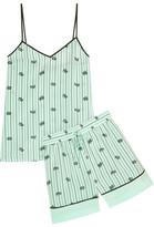 Tibi Printed Silk Crepe De Chine Camisole And Shorts Set