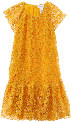 Oscar de la Renta Floral Lace Dress
