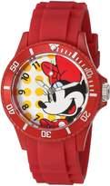 Disney Women's 'Minnie Mouse' Quartz Plastic Automatic Watch, Color: (Model: W002805)