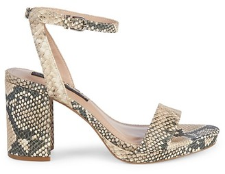 Steven by Steve Madden Vice Snakeskin-Embossed Block Heel Sandals