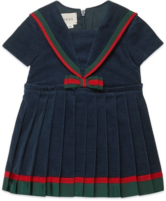 Gucci Children's corduroy dress with bow