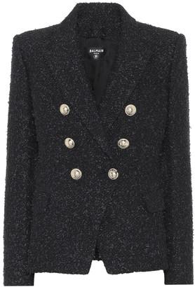 Balmain Boucle cotton-blend blazer