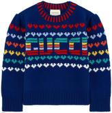 Gucci Wool jacquard knit sweater