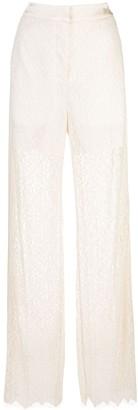 Jonathan Simkhai Ava lace straight leg trousers