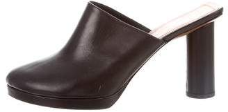 Celine Leather Pointed-Toe Mules