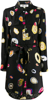 Diane von Furstenberg Tossed Agate-print shirt dress