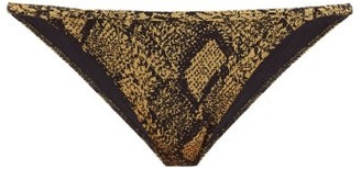 Solid & Striped The Lulu Snake-jacquard Bikini Briefs - Womens - Black Print