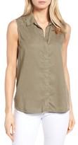 NYDJ Petite Women's Vera Button Back Sleeveless Shirt