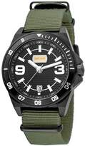 Just Cavalli Mens Kaki/green Nylon Strap Watch With Black Dial.
