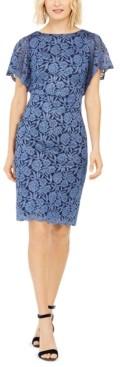 Jessica Howard Glitter-Lace Sheath Dress