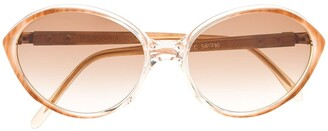 Yves Saint Laurent Pre Owned 1980s Oval-Frame Sunglasses