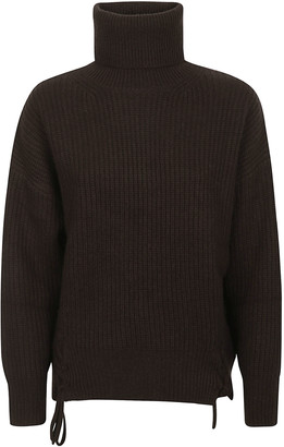 P.A.R.O.S.H. High-neck Side Slit Sweater