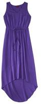 Merona Women's V-Neck Tie Waist Hi/Lo Hem Dress - Assorted Colors
