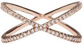 Eva Fehren Rose Gold Diamond Shorty Ring