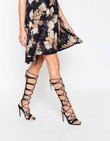Asos HEADQUARTER Lace Up Heeled Sandals