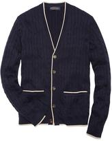 Brooks Brothers Supima® Cable V-Neck Cardigan