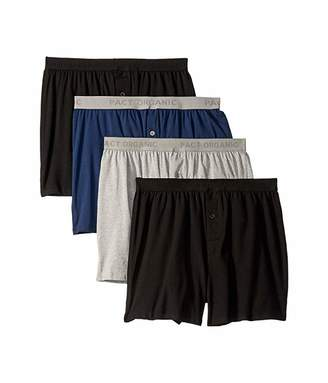 Pact Organic Cotton Knit Boxers 4-Pack