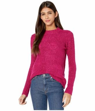 Kensie Women's Fuzzy Boucle Knit Turtleneck Sweater