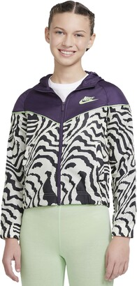 Nike Kids' Print Hooded Windrunner Jacket