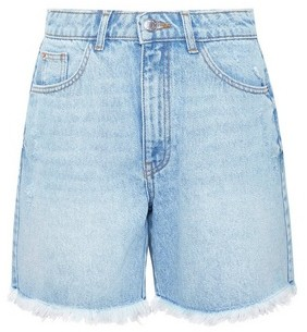Dorothy Perkins Womens Blue Lightwash Bermuda Denim Shorts, Blue