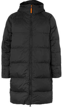 Aspesi Quilted Nylon-Ripstop Hooded Down Jacket