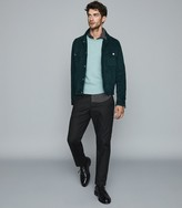 Reiss Randolf - Textured Crew Neck Jumper in Mint