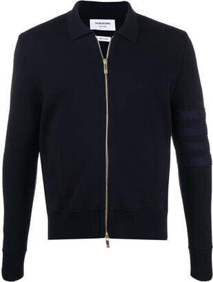 Thom Browne Merino wool zip-up cardigan