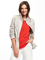 Old Navy Linen-Blend Field Jacket for Women