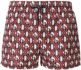 Dolce & Gabbana Monogram Swim Shorts