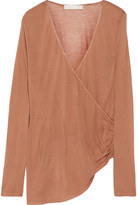 Kain Label Arabella wrap-effect modal and silk-blend top