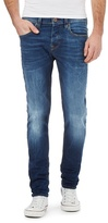 Voi Navy Mid Wash Skinny Fit Jeans