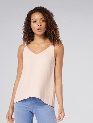 Forever New Karima Deep V Cami Top - Pink based spot - 4